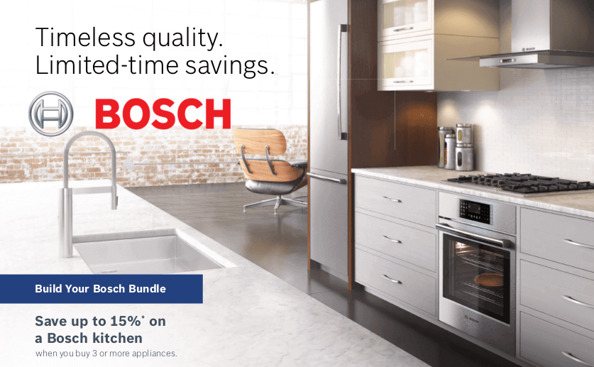 Attirant Save Up To 15% On A Bosch Kitchen Package With The Purchase Of 3 Or More  Appliances