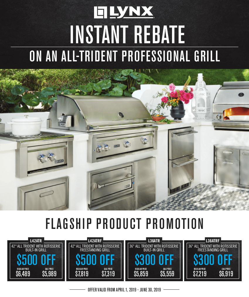 Lynx Trident Grill Instant Rebate