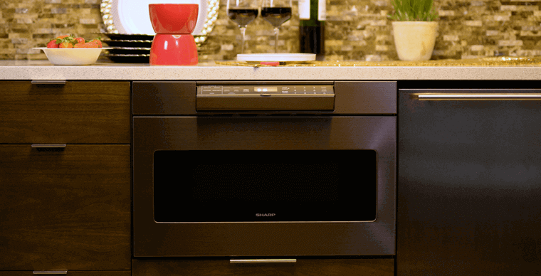 Sharp Black Stainless Microwave Drawer