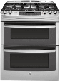 GE Profile 30-inch Slide-In Double Oven Gas Range